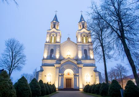Vilkaviškis Katedraalin valaistus